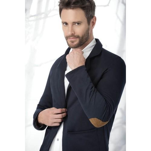 f69a2f2df2bed Chaquetas o busos   Blazer o chaqueta hombre azul oscuro con coderas